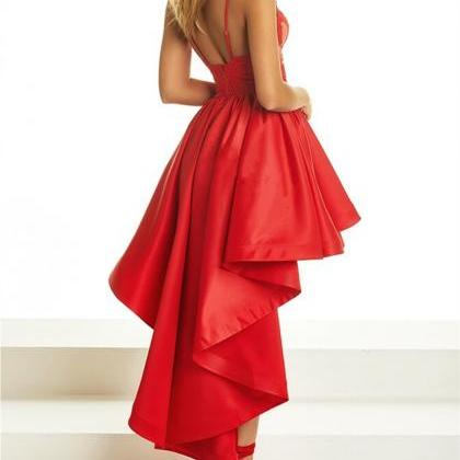 Red Prom Dress,High Low Prom Dress,..
