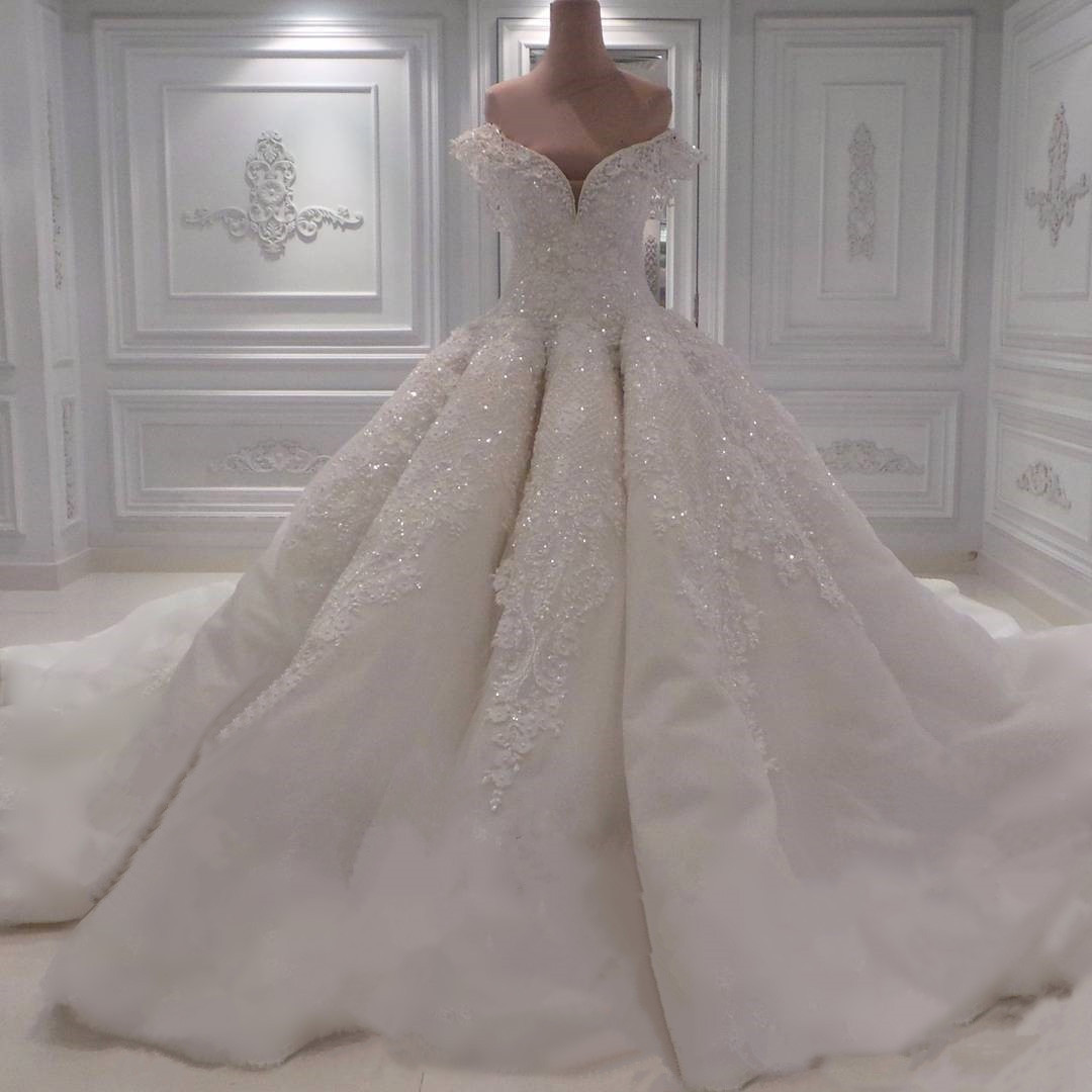 sexy off the shoulder white lace sweetheart ball gown wedding dresses with illusion back 2017 new design