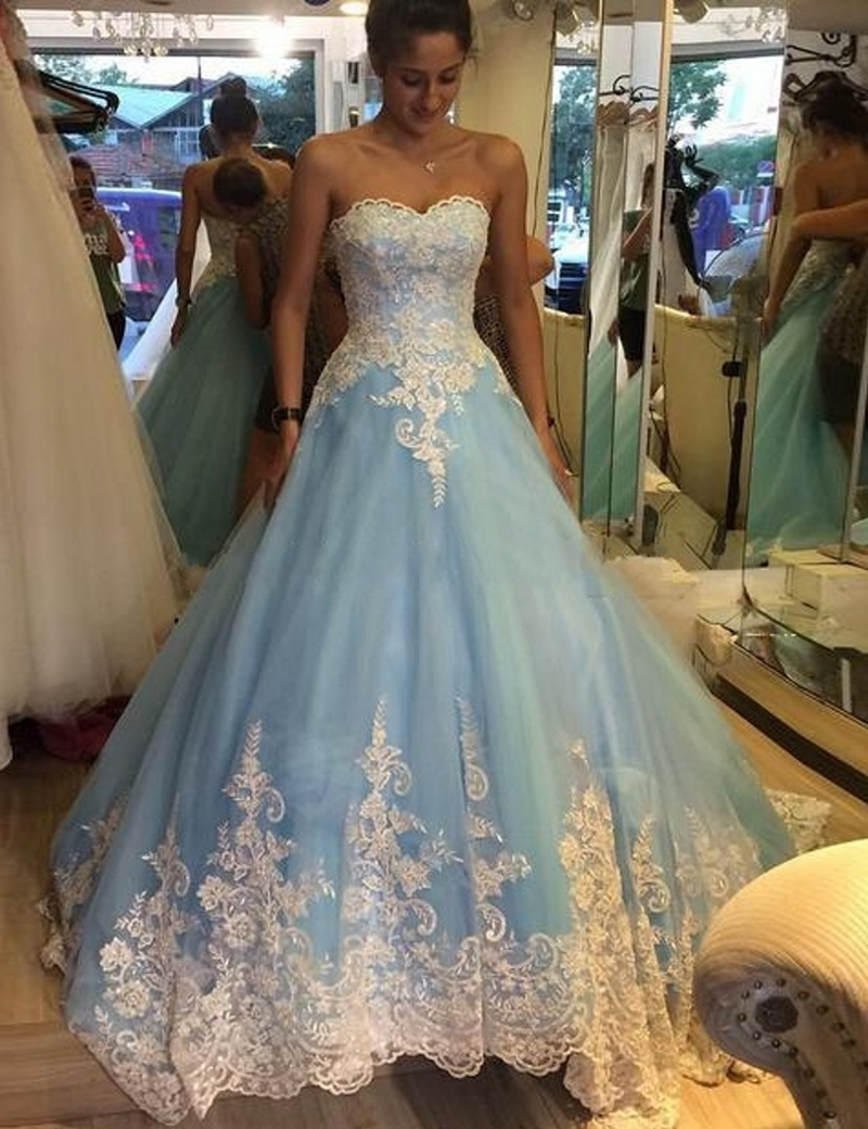 Baby blue quinceanera dresses elegant quinceanera dresses for Baby blue wedding guest dress