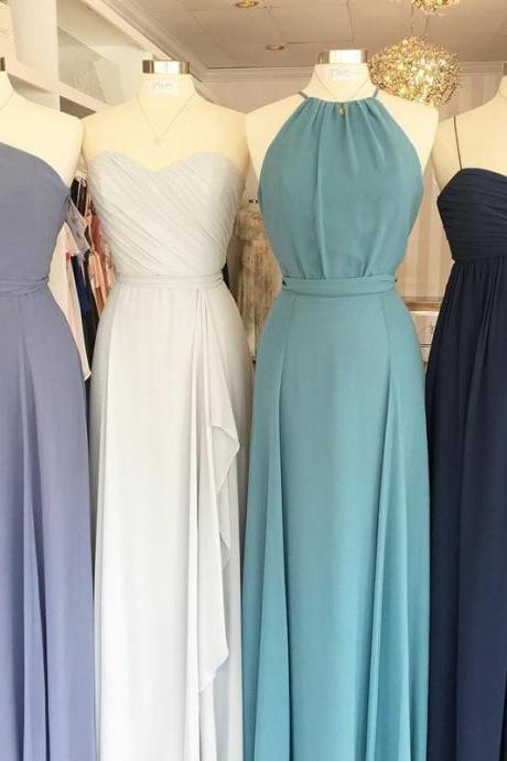 chiffon bridesmaid dress,long bridesmaid gowns,mixed style bridesmaid dresses,cheap evening gowns