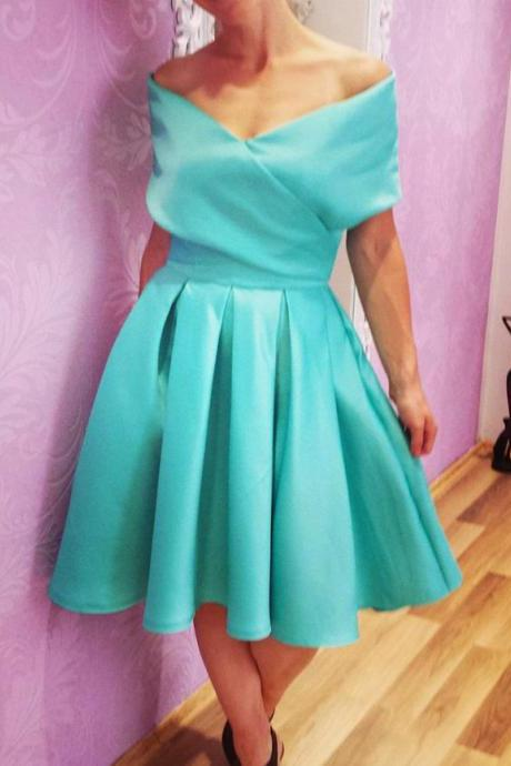 swing party dress,short mini ball gowns,mint green homecoming dress,short prom dresses 2017