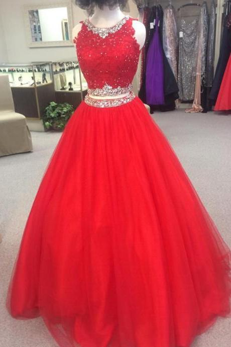 red quinceanera dress,ball gowns quinceanera dress,sweet 16 dress,sweet 15 dress,two piece ball gowns