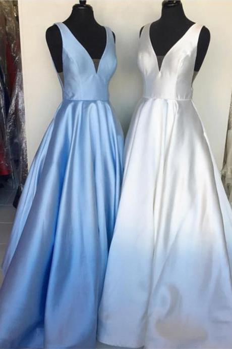 Long Evening Gowns,Prom Long Dress,Sexy Evening Gowns,Formal Prom Dress,Satin Evening Gowns