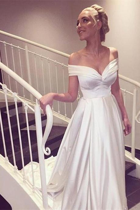 Satin Wedding Dresses,Beach Wedding Dress,Sexy Wedding Dress 2016