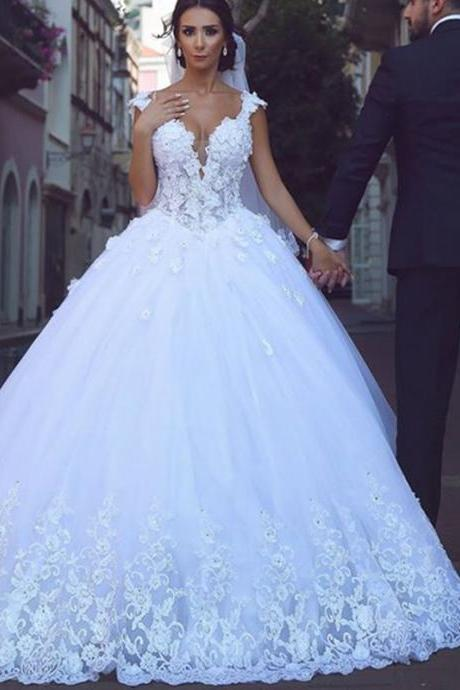white lace cap sleeves sweetheart tulle princess wedding gowns 2016