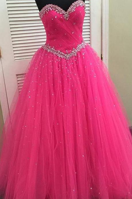 pink organza ball gowns quinceanera dresses with crystal beaded sweetheart 2017 new design
