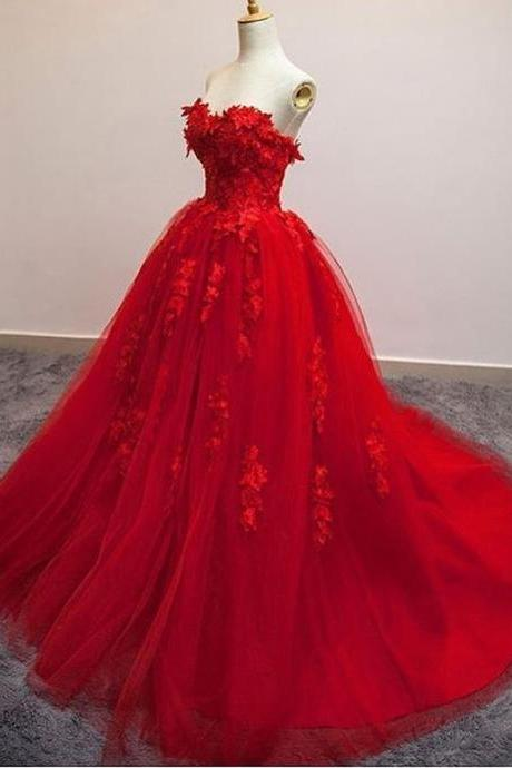 Prom Dresses Red,Ball Gowns Prom Dress,Elegant Prom Gowns,Sexy Prom Dress,Ball Gowns Evening Dress,Special Occasion Dress