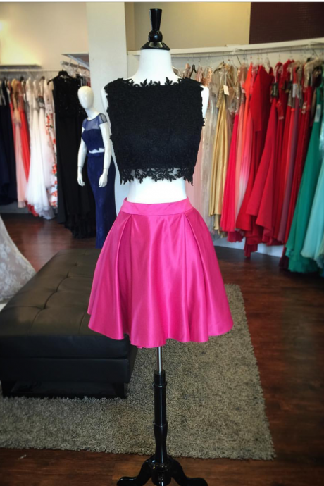two piece prom dresses,2 piece homecoming dress,elegant homecoming dresses.party dresses