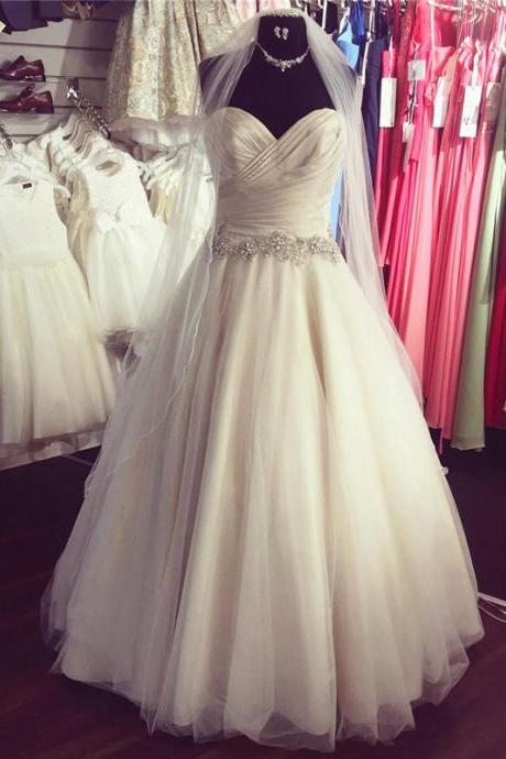 ruched sweetheart tulle wedding ball gowns dresses 2017